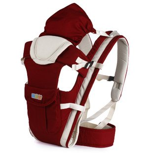 Happy Bear Baby Carrier, Baby Wrap #3009 (Wine Red) front-93712