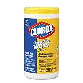 Clorox 15948 Commercial Solutions Disinfecting Wipe, Lemon Fresh Scent (Pack of 75) at Sears.com