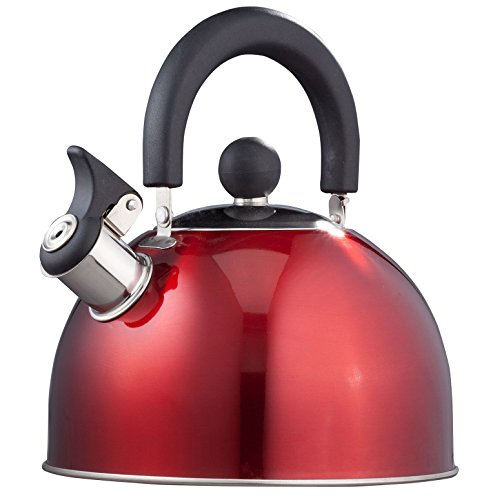 Miles Kimball Red Whistling Tea Kettle by Home-Style Kitchen (Apple Kettle compare prices)