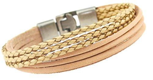 SaySure - Braided Leather Bracelets Charm Bracelets & Bangles