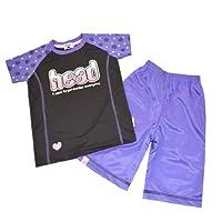 ジャージ キッズ ガールズ HEAD(ヘッド) Tシャツ&ハーフパンツ 14376ts-14(チャコール )