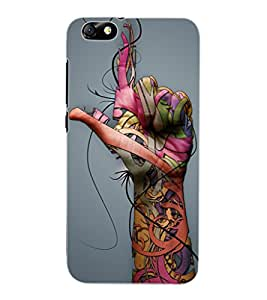 ColourCraft Hand Image Design Back Case Cover for HUAWEI HONOR 4X