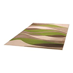 3 Sizes Available - Sincerity Modern - Contour Green - Good Quality Rug by Flair Rugs