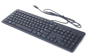 genuine dell f8m3y kb113p usb wired slim black quiet computer keyboard for desktop. Black Bedroom Furniture Sets. Home Design Ideas