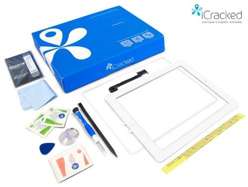 Schermo di ricambio e Kit di riparazione di qualità superiore per iPad 4- Blanco