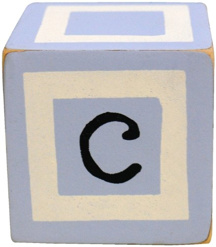 New Arrivals Letter Block C, Blue/White