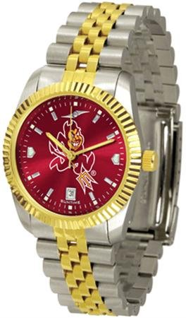 Arizona State Sun Devils ASU NCAA Mens 23kt Executive Watch