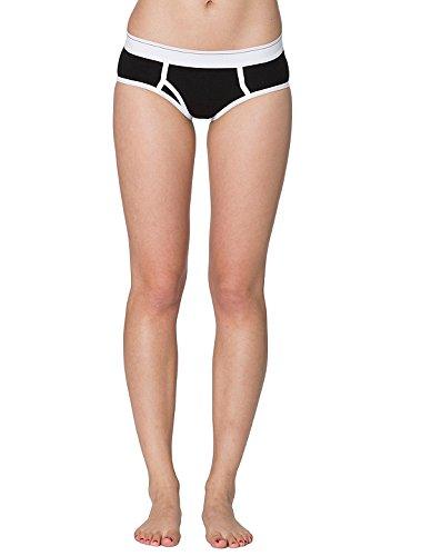 american-apparel-womens-cotton-spandex-jersey-boy-brief-size-s-black-white-