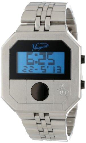 original-penguin-op3034sl-montre-homme-quartz-digital-bracelet-acier-inoxydable-argent