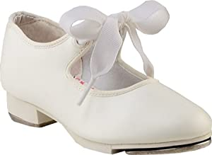 Capezio Jr.Tyette N625C Tap Shoe (Toddler/Little Kid),White,12 W US Little Kid