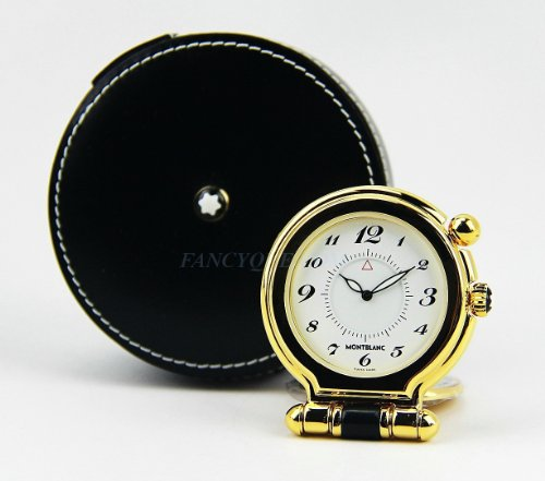 Montblanc *Travel Timepieces* Alarm Clock Gold Plated 5707