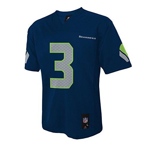 Seattle Seahawks Russell Wilson Blue Youth NFL Jersey