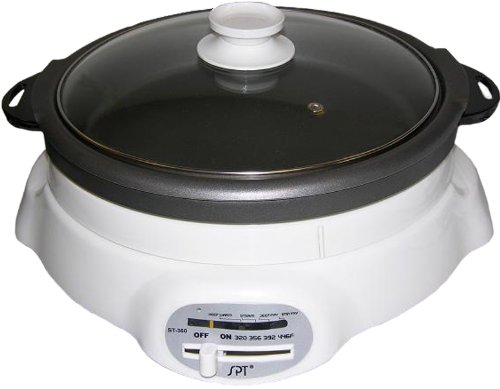 Sunpentown St-360 1200-Watt 4-1/2-Liter Cooker With Shabu-Shabu Pot And Grill Pan