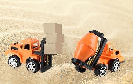 Dazzling Toys Construction Cement and Bulk Truck