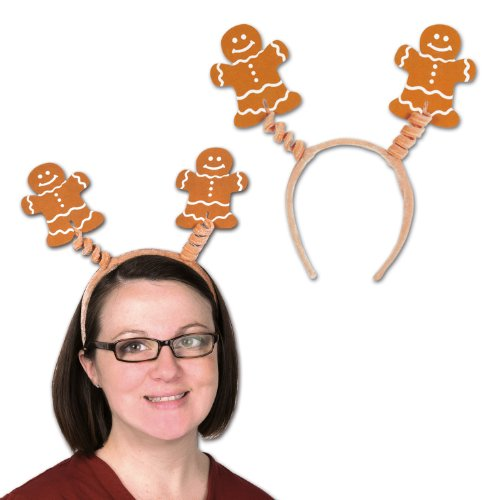 Beistle  Gingerbread Man Boppers Party Hat