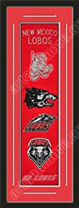 Heritage Banner Of New Mexico Lobos With Team Color Double Matting-Framed Awesome... by Art and More, Davenport, IA