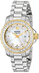 """Movado Women's 2600121 """"Series 800"""" Stainless Steel Watch with Link Bracelet"""