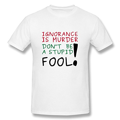 Ignorance Murder Man'S Fitted Folder T Shirts - Ultra Cotton front-483675