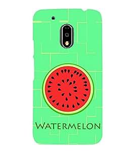 Watermelon Pattern 3D Hard Polycarbonate Designer Back Case Cover for Motorola Moto G4