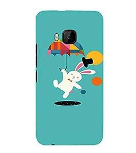 EPICCASE Jumping Rabbit Mobile Back Case Cover For HTC One M9 (Designer Case)