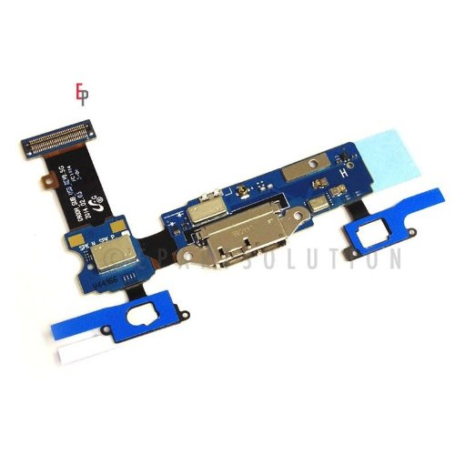 Epartsolution-Samsung Galaxy S5 G900H Charging Port Flex Cable Dock Connector Usb Port With Mic Microphone Flex Cable Repair Part Usa Seller