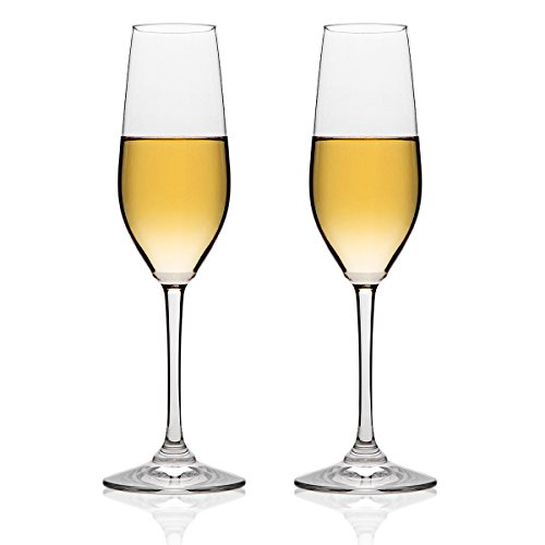 MICHLEY-Unbreakable-Champagne-Flutes-Glasses-100-Tritan-Shatterproof-Wine-Glasses-BPA-free-Dishwasher-safe-8-oz