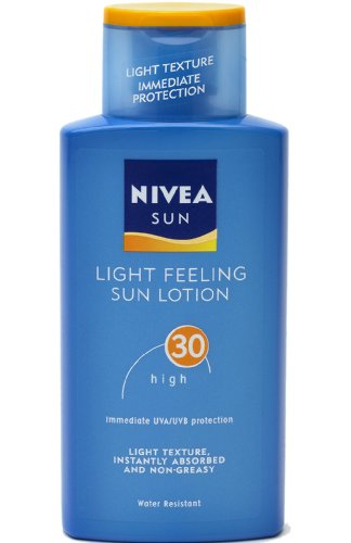 Nivea Sun Light Feeling Sun Lotion High SPF30 Non Greasy Light Texture 200ml