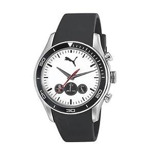Puma Active - Chrono Silver Black Men's watch #PU102581002