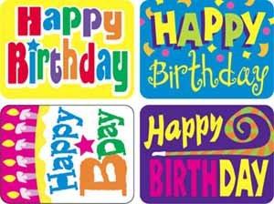 Happy Birthday Applause Stickers