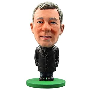 Manchester United F.C. SoccerStarz Ferguson- Sir Alex Ferguson- SoccerStarz figure- 2 inches tall- with collectors card- in blister pack- official licensed product from Limited Stock / Collectables