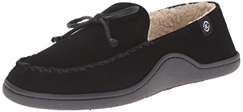 isotoner-a91365-herren-us-8-schwarz-slipper