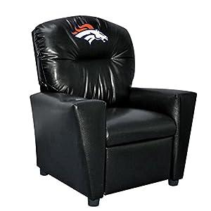NFL Denver Broncos Tween Faux Leather Recliner