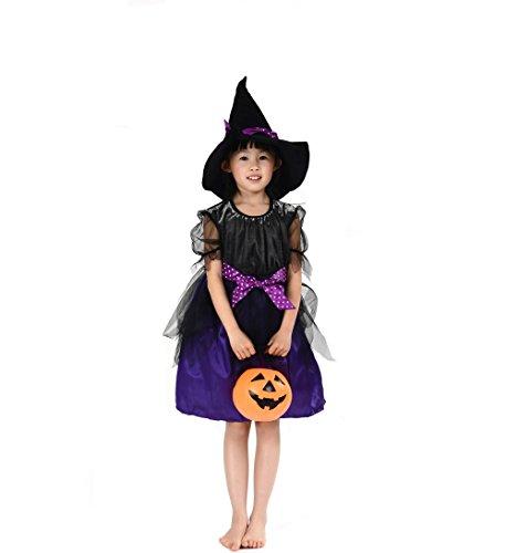 子供用 魔女の衣装 ハロウィン衣装、ハロウィーン、コスチューム、仮装、子供、女の子 Ruleronline (L(120-130cm))