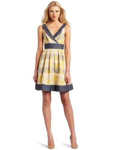 Eva Franco Women's Taffey Fit-and-Flare Dress, Snapdragon, 10