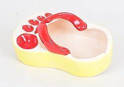 Ceramic Slipper Shape Ashtray (Red)