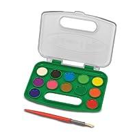 Melissa And Doug Take-Along Watercolor Paint Set (12 Colors)