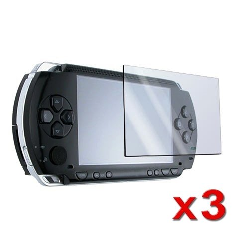 eForCity 3 Screen Protector + Cloth + for SONY PSP
