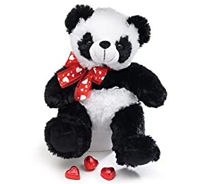 Plush Panda Valentine Bear - 10 Sitting from Burton & Burton