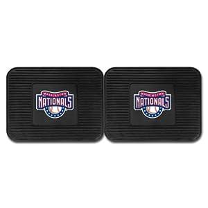 Fanmats 12347 MLB - Washington Nationals asiento trasero Utilitarios Mats Paquete de 2