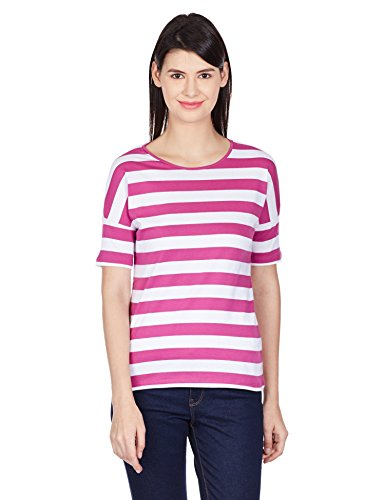 UCB Women's Top (15A3ST3E9304I901_Pink and White _S)
