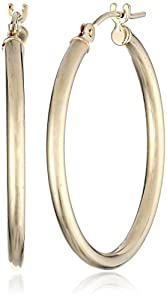 Duragold 14k Yellow Gold Round Hoop Earrings (1