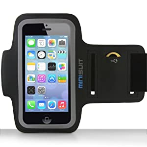 Minisuit SPORTY Armband + Key Holder for iPhone 5 / 5S / 5C, iPod Touch 5 (Black)