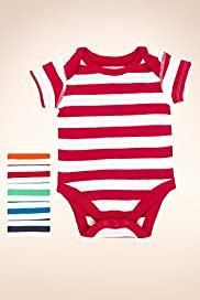5 Pack Pure Cotton Striped Bodysuits