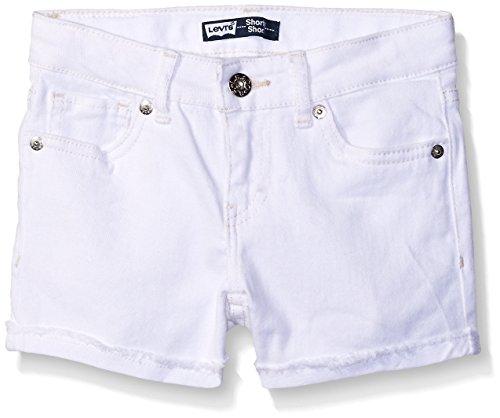 Levi's Big Girls Scarlett Denim Shorty Short, White, 10