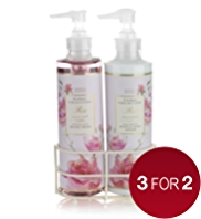 Floral Collection Rose Twin Rack Gift Set
