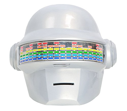 XCOSER Daft Punk Thomas Helmet DJ Mask Props with Led for Adults PVC Classic