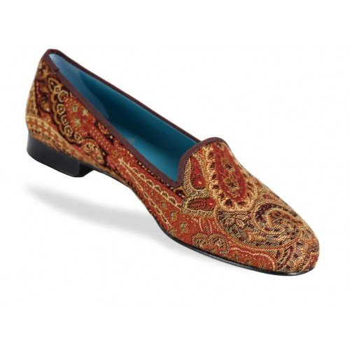 Rev Animas Code Women Paisley Red Gold W Size : 36.5