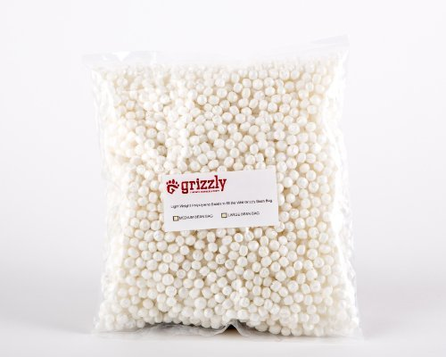 Wild Grizzly Products LLC Grizzly Polystyrene, Poly Styrene beads, balls, fill to fill the Grizzly MEDIUM Camera Bean Bag, Photography Bean Bag, Video Bean Bag, Camera Support, Camera Sandbag,