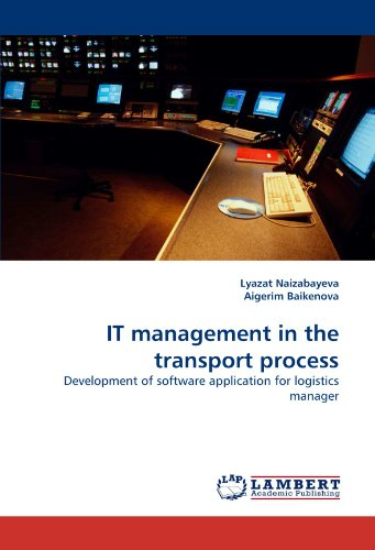 IT management in the transport process: Development of software application for logistics manager
