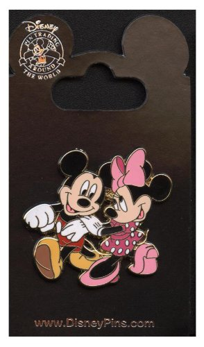 Disney Pin - Mickey Mouse and Minnie Mouse Strolling - Pin 48005